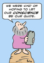Cartoon: conscience guide moses (small) by rmay tagged conscience guide moses