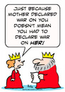 Cartoon: declare war king queen (small) by rmay tagged declare,war,king,queen