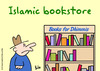 Cartoon: dhimmis book store muslim (small) by rmay tagged dhimmis book store muslim