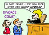 Cartoon: divorce judge tape over soap (small) by rmay tagged divorce,judge,tape,over,soap