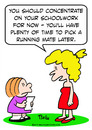 Cartoon: girl schoolwork running mate (small) by rmay tagged girl,schoolwork,running,mate
