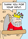 Cartoon: input arrows king thank you (small) by rmay tagged input,arrows,king,thank,you
