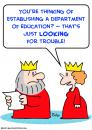 Cartoon: king queen education trouble (small) by rmay tagged king,queen,education,trouble