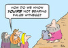 Cartoon: Moses bears false witness? (small) by rmay tagged commandment moses bear false witness