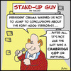 Cartoon: SUG cambridge cop obama fort hoo (small) by rmay tagged sug,cambridge,cop,obama,fort,hoo