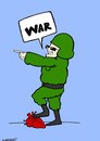 Cartoon: war (small) by HAMED NABAHAT tagged war